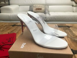 Christian Louboutin White Just Nothing 85mm Sandals New - $799.00
