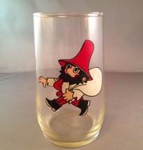 Vintage 1960s Rumcajs Drinking Glass Czech Fairy Tale Cobbler Red Hat Ca... - $29.02