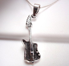 Electric Guitar Pendant Sterling Silver Corona ... - $9.89