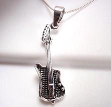 Electric Guitar Pendant Sterling Silver Corona Sun Jewelry musician guit... - €8,36 EUR