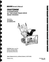 Craftsman Snow Thrower Operator's Manual Model No. 247.885690 - $12.50