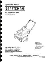 Craftsman Snow Thrower Operator's Manual Model No. 247.88755 - $12.50