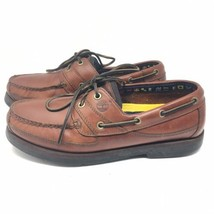 Timberland Men's Echo Bay 71026 Brown Leather Slip-on Boat Shoes Loafers... - $760,71 MXN
