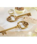 "20 Gold ""Key to My Heart"" Vintage Bottle Openers Wedding Favor Bridal Sh... - $60.37"