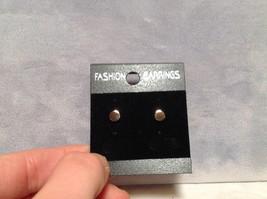 Stunning 18K Rose Gold Round Plain Stud Earrings