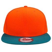 New Era 9fifty Plain Two-Tone Hunter Orange / Teal Snapback 950 Hat Cap - $32.87