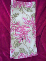 10 Tommy Hilfiger Floral Pink Green  Print Cropped Tropical Stretch Capri Pants - $19.99