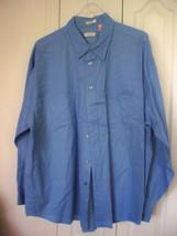 2XL  XXL Van Heusen Soft Twill  RARE Blue Long Sleeve  Shirt Mens 100% C... - $18.99