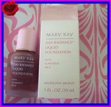 NEW NIB Mary Kay Day Radiance Mahogany  Bronze Liquid Foundation 1 FL oz - $14.99