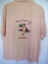 XLarge Joe Marlin Peach  Daiquiri Hawaiian Silk Short Sleeve Button Down... - $24.74