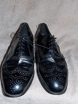 Dexter  WING TIP Punched Black Leather OXFORDS For Men 10WW Used