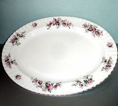 "Royal Albert Lavender Rose Oval Serving Platter 16"" New - $98.90"
