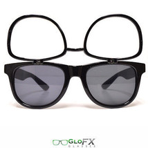 Diffraction Sunglasses tinted flips flipz flip up flip-up rave tint glasses rave - $19.98
