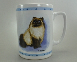 Himalayan Cat history 8 oz Coffee Mug Cup Ruth Mayfield - $6.25