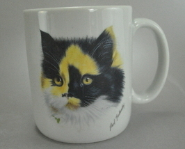 Calico Kitty Cat Paul Tankersley Coffee Mug Cup 10 Oz - $7.75
