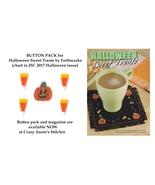 BUTTON PACK for Halloween Sweet Treats chart JCS 2017 Halloween Magazine - $8.75