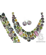 701 Cts Combined Genuine Afghanistan Sterling Silver Necklace Bracelet - $514.42