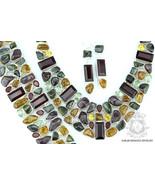 TOURMALINE MOZAMBIQUE GARNET 925 Solid Sterling Silver Necklace Set 145 - $451.24