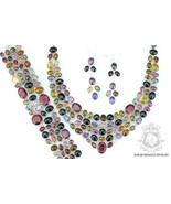WATERMELON TOURMALINE KASHMIR Ruby 925 Solid Sterling Silver Necklace Se... - $451.24