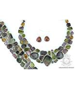 698 Carats GENUINE PARAIBA TOURMALINE 925 Sterling Silver Necklace Bracelet - $451.24