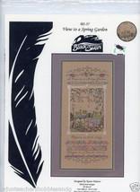 Black Swan Cross Stitch Design Karen Weaver A View To A Spring Garden VH... - $13.19