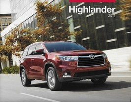 2015 Toyota HIGHLANDER brochure catalog 15 US LE Plus XLE Limited HYBRID - $6.00