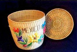 Woven Decor Basket AB 720 Vintage image 3