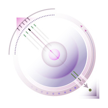 *Circles_Squares_Lines_Pink* Digital Illustration JPEG Image Download - $3.93