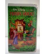Walt Disney's Classic Robin Hood Movie VHS Tape - Black Diamond The Clas... - $23.70