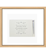 Personalised Condolence Funeral Guest Book - $29.50