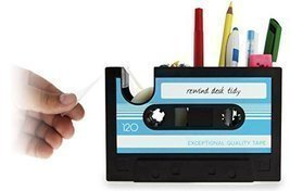 eSmart Desk Tidy Retro Cassette Tape Dispenser Pencil Holder Pen Contain... - $484,37 MXN