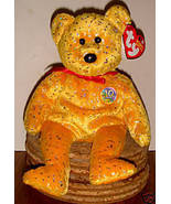 Retired Ty Beanie Baby ~ Decade (Gold) the Bear ~ MWMT ~ January 22, 2003 - $9.00