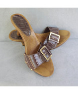 Fioni Slip On Croco Heeled Sandals Size 6.5 - $24.00