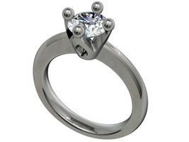 Mold Rubber Silicon  Tulip Engagement Ring - CA1 - $34.65