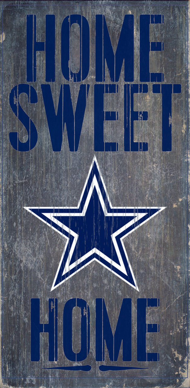 "DALLAS COWBOYS HOME SWEET HOME WOOD SIGN and ROPE 12"" X 6""  NFL MAN CAVE!"