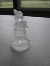 1992 GOEBEL Frosted CRYSTAL Collection - Schoolgirl Girl with Backpack F... - $13.36