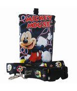 Disney Mickey Mouse Black Lanyard with Detachable Purse