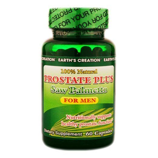 Earth's Creation Prostate Plus - Saw Palmetto 500mg - For Men