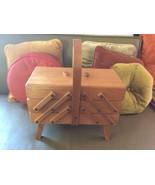 Vintage danish Wooden Wood Folding Sewing Box c... - $99.99