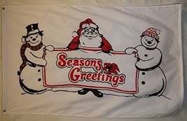 Season Greeting From Santa Frosty And Wife Flag 3' X 5' Indoor Outdoor Banner - $9.95