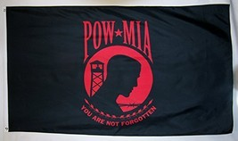 POW-MIA You Are Not Forgotten Flag 3' X 5' Red Indoor Outdoor Banner - $9.95