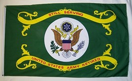 United States Army Retired 3' X 5' Indoor Outdoor Licensed Banner - $12.95