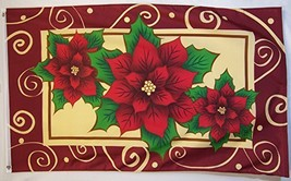 Poinsettias Flag 3' X 5' Indoor Outdoor Christmas And Year Round Banner - $9.95