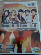 Nintendo Wii Disney Sing It: Pop Hits ~ COMPLETE image 1