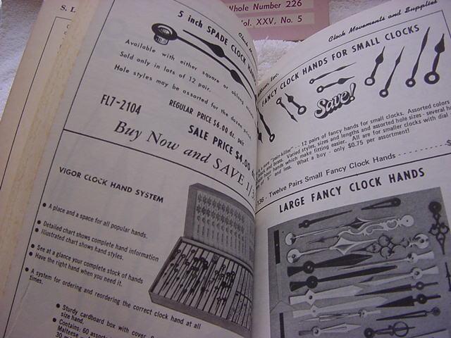 1975 S.LaRose clock movements & supplies book-10-83 Nat'l Assoc watch