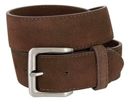 Square Buckle Casual Jean Suede Leather Belt for Women (Brown, 42) - $22.27