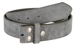 Suede Leather Casual Jean Belt Strap for Men (Gray, 32) - $19.79