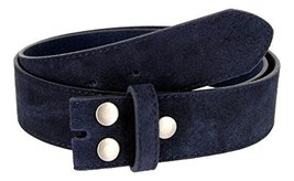 Suede Leather Casual Jean Belt Strap for Men (Navy, 34) - $14.80