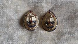 Vintage Anchor Clip-On Earrings  - $22.76