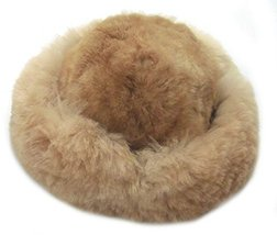 Alpakaandmore Womens Brown Baby Alpaca Fur Mongolian Hat Satin Lined Russian ... - $55.44